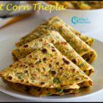 Sweet Corn Coriander Thepla Recipe