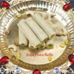 Kaju Pista Rolls | Cashew Pistachio Rolls | Diwali Sweets