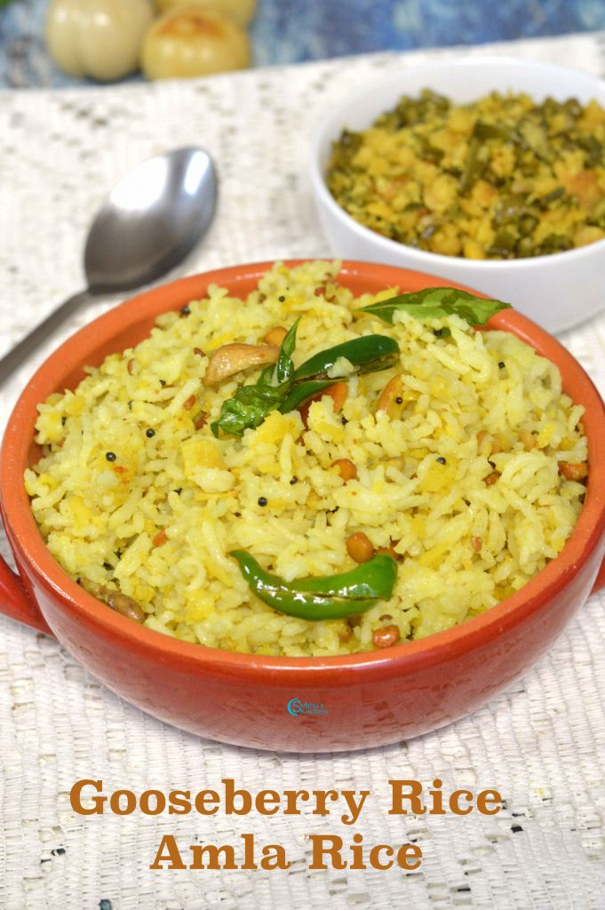 Nellikai Sadam | Amla Rice | Gooseberry Rice