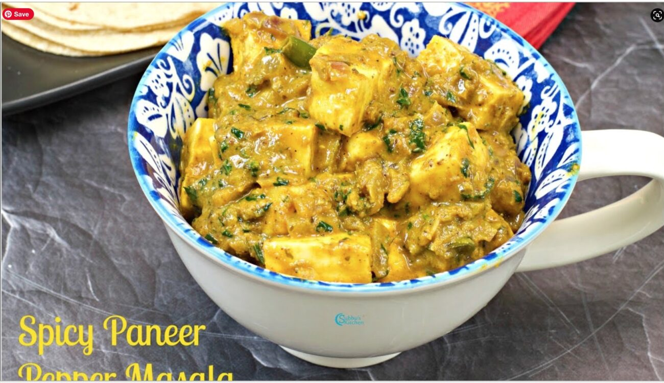 Spicy Paneer Coconut-Pepper Curry Recipe