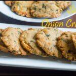 Baked Savory Onion Crakers Recipe   Baked Maddur Vada Recipe