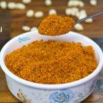 Peanut Chutney Powder | Shenga Chutney Pudi Recipe